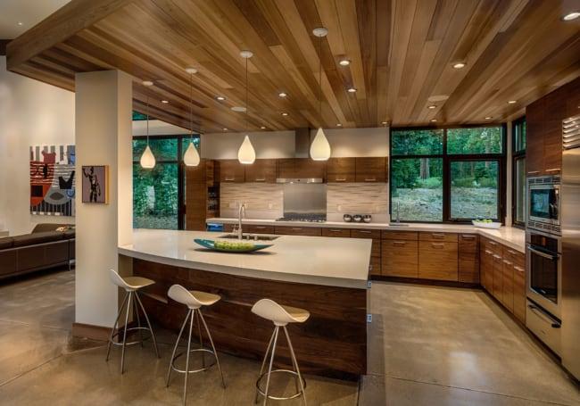 Esquadrias de alumínio preto para cozinha moderna