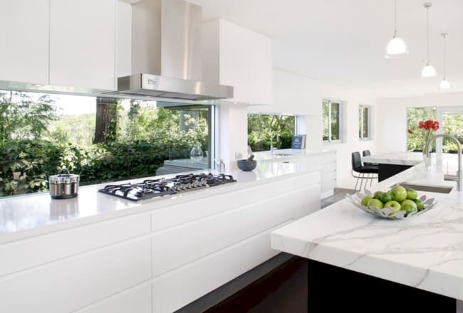 Janela de vidro fixo para cozinha