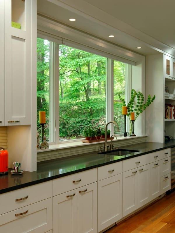 Janelas brancas para cozinha