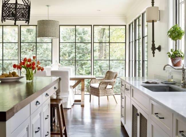 Janelas modernas com esquadria de alumínio para cozinha