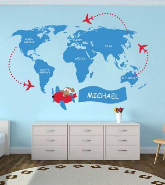 Papel de parede de mapas com tons de azul.