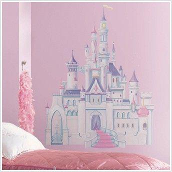 Papel de Parede para quarto infantil feminino, com castelo da Disney.