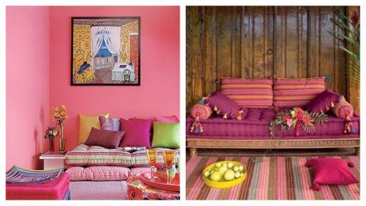 Almofada futon na decoração.