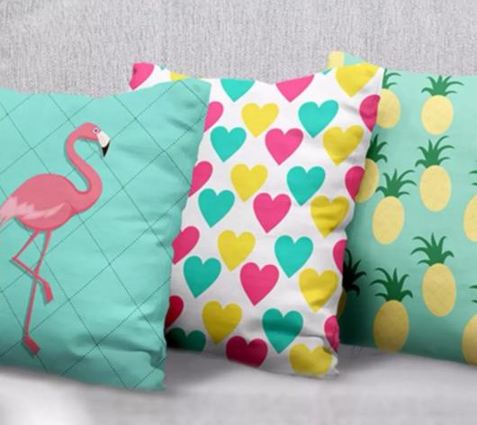 almofadas divertidas coloridas