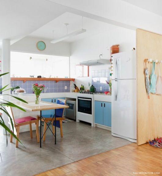 decoração azul cozinha
