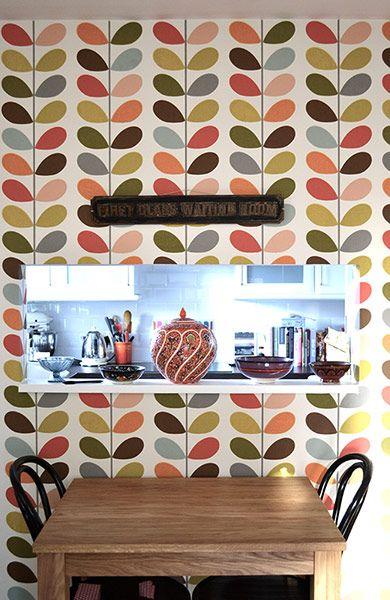 Azulejo retrô na cozinha.