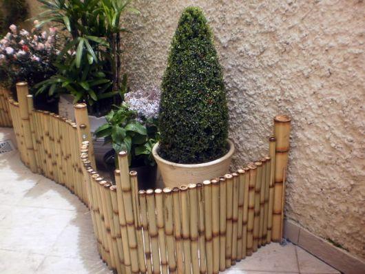 cerca de bambu de jardim