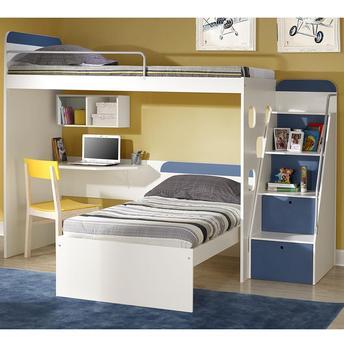 beliche com gavetas azul