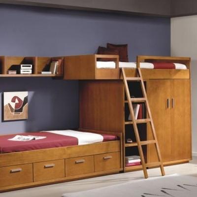 beliche com gavetas com armário