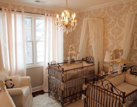 Decoração provençal no quarto do bebê.