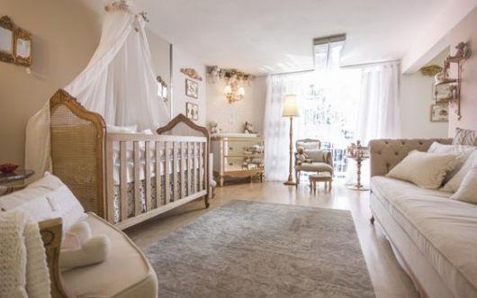 Quarto de bebê no estilo provençal.