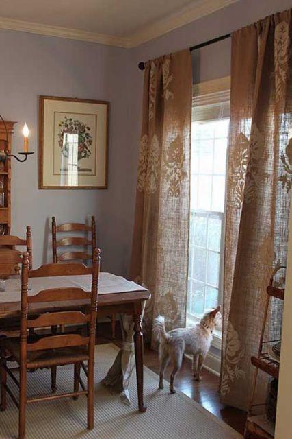 cortina sala de jantar