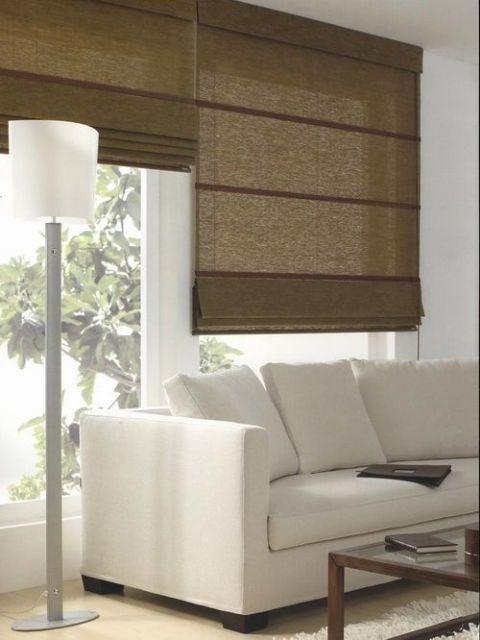sala com cortina romana
