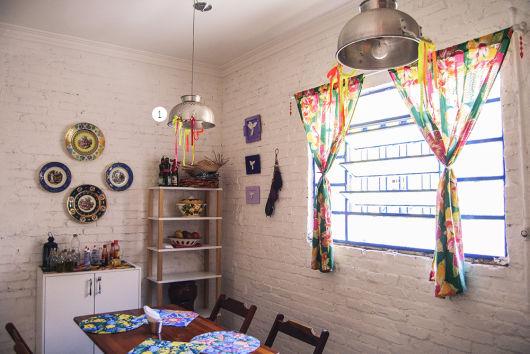 cortina de chita decoração