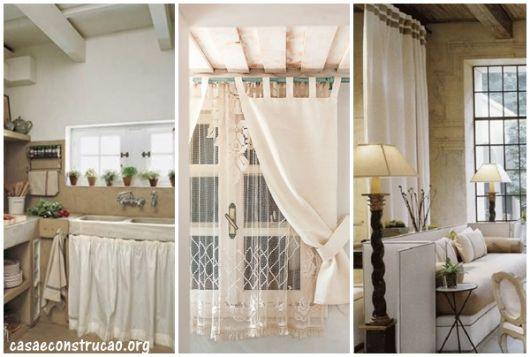 modelos de cortinas brancas