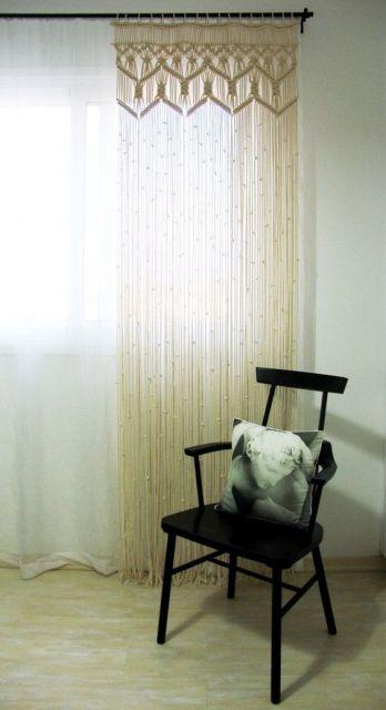 cortina macramê