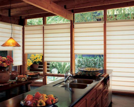 cortinas japonesas em cozinha com bacana
