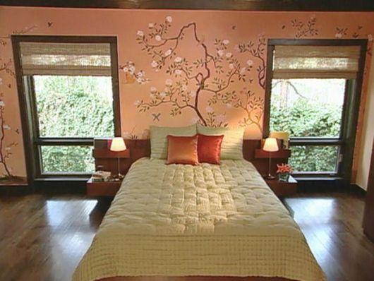 cortinas japonesas em quarto
