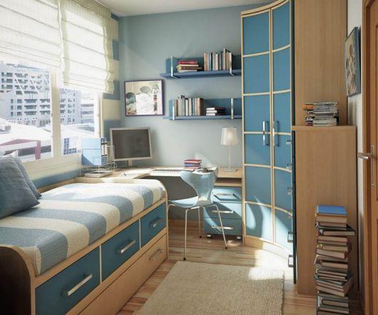 decoração de quarto masculino pequeno