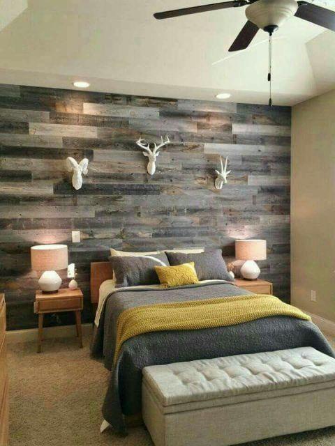 decoração de quarto masculino rústica