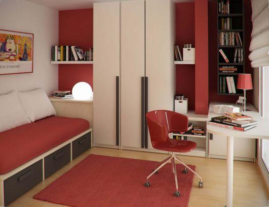 quarto vermelho