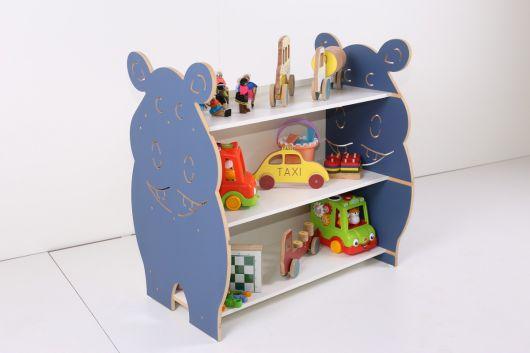 estante para brinquedos em MDF