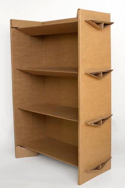 estante para brinquedos de papelão