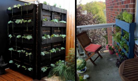 jardim com paletes criativo