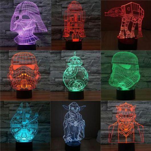 Luminárias Star Wars em 3D.