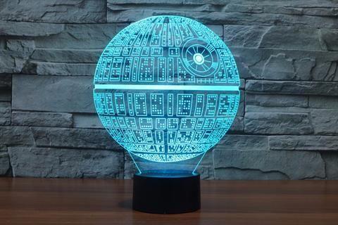 Luminária Star Wars azul em 3D.
