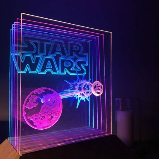 Luminária em 3D do Star Wars.