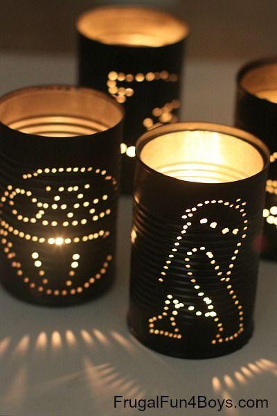 Luminárias Star Wars feitas à mão.