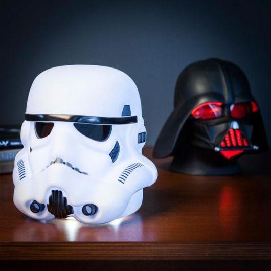 Luminárias de LED Star Wars.