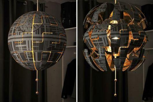 Luminária pendente Star Wars.
