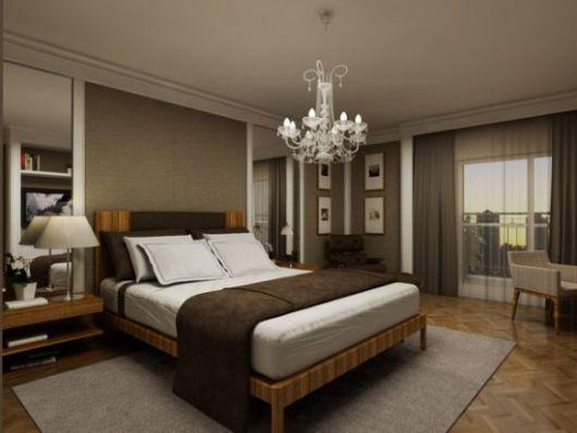 lustres para quarto de casal clássico