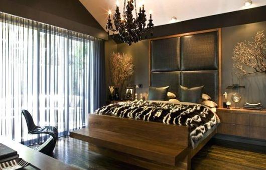 lustres para quarto de casal preto rústico