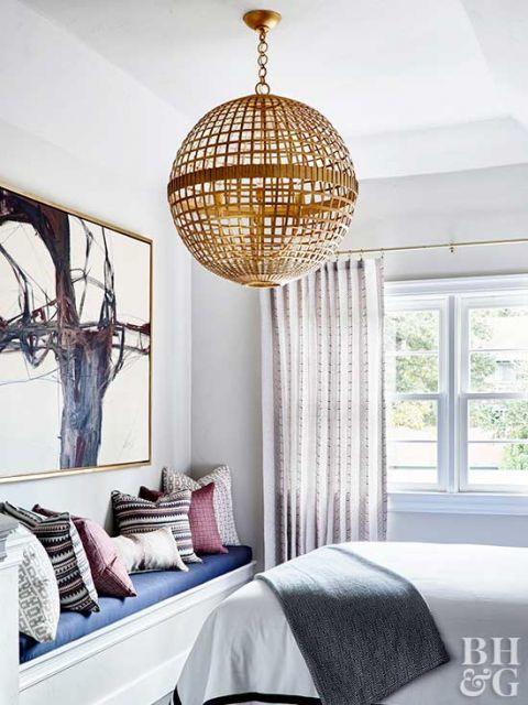 lustres para quarto de casal em formato de globo
