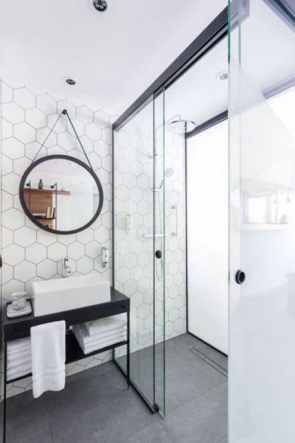 decoração banheiro retrô