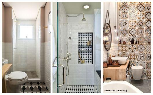 ideias de banheiros retrô e vintage