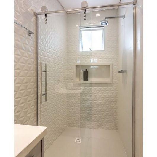 banheiro branco clean
