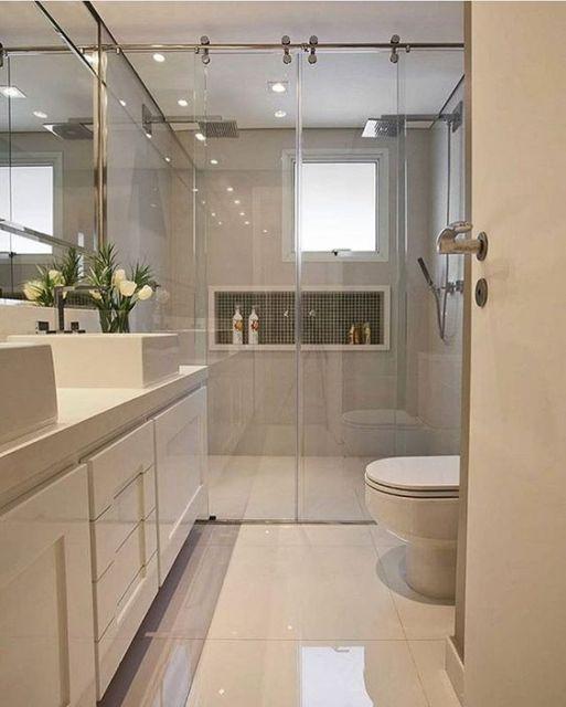 banheiro clean e moderno