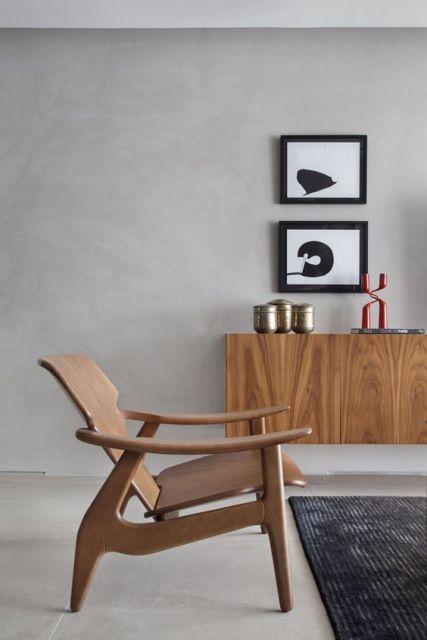 poltrona moderna madeira