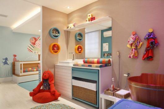 banheiro quarto de bebê