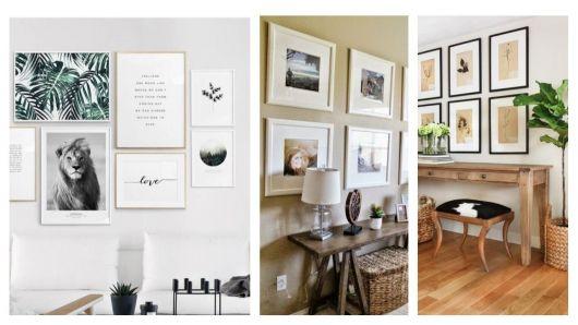 Quadros minimalistas em diversos ambientes.