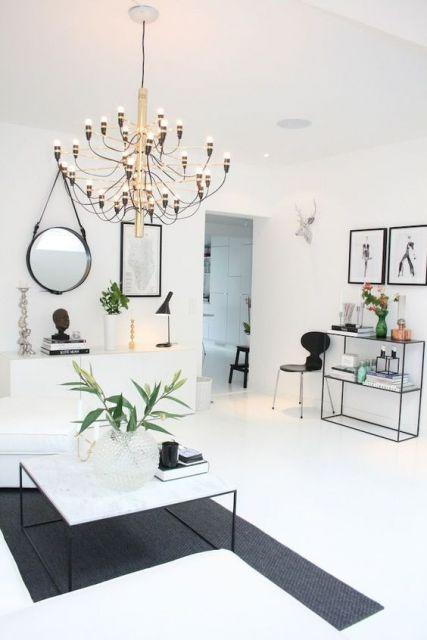 Quadros em decoração minimalista.