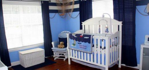 fotos de quarto de bebê marinheiro