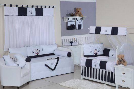 quarto de bebê marinheiro estilo atemporal