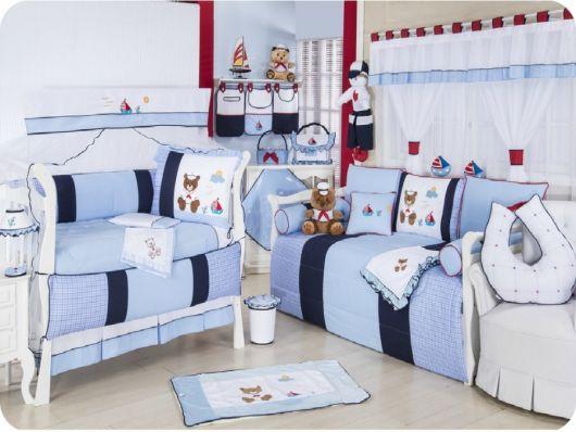 quarto de bebê marinheiro ursinho