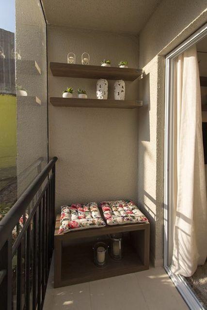 decoração simples sacada apartamento