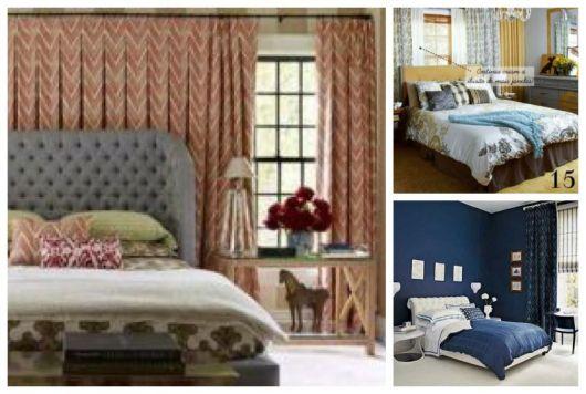 Três cortinas para quarto de casal.